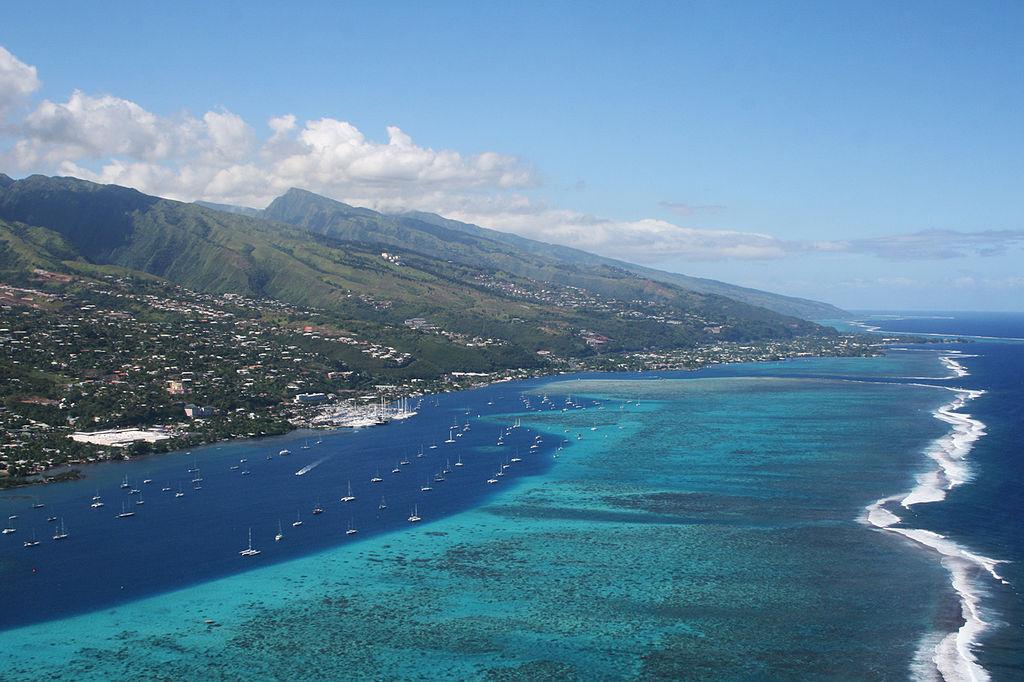 Vue de Papeete sur l'île de Tahiti