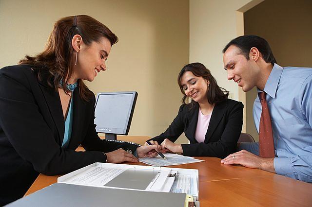Immobilier - agent et client